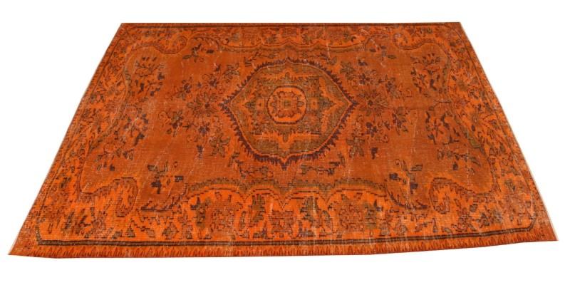 5.7 X 9.1 Ft.. 170 X 271 CM  Orange Vintage Carpet