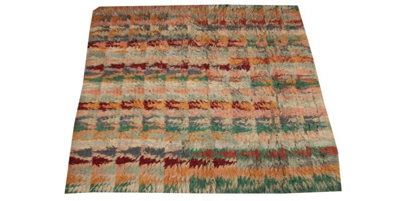 8.10 X 10.4 Ft.. 270x315 cm Modern Carpet, Turkish Shaggy Tulu rug