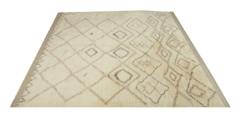 6.9 X 10.10 Ft..  205x330  cm Extra Large Soft Abstract Morocco Rug